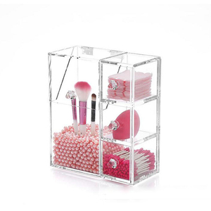 Wholesale Creative clear makeup organizer brush holder acrylic cosmetic display