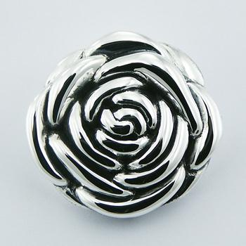 Electroformed Rose Flower 925 Silver Pendant Hidden Bail
