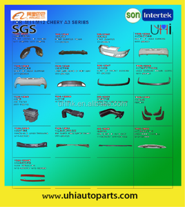 car body/spare parts/accessories---bumpers inner fender windshield lower trimming handle etc for M11 Chery A3