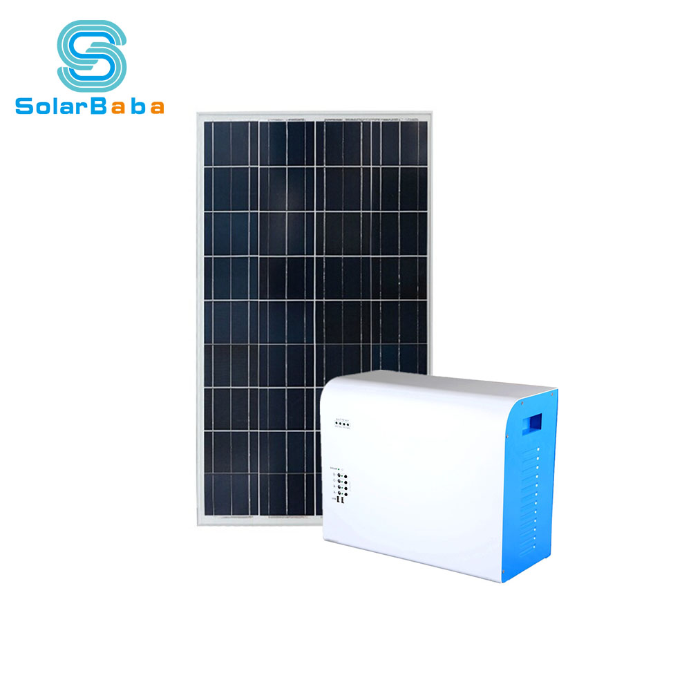 Popular Emergency Solar Home Kits AC 220V Portable laptop Solar Generator 200W With led bulk usb charger
