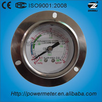 "2.5""axial mount liquid filled pressure gauge measuring device with CE certificate"