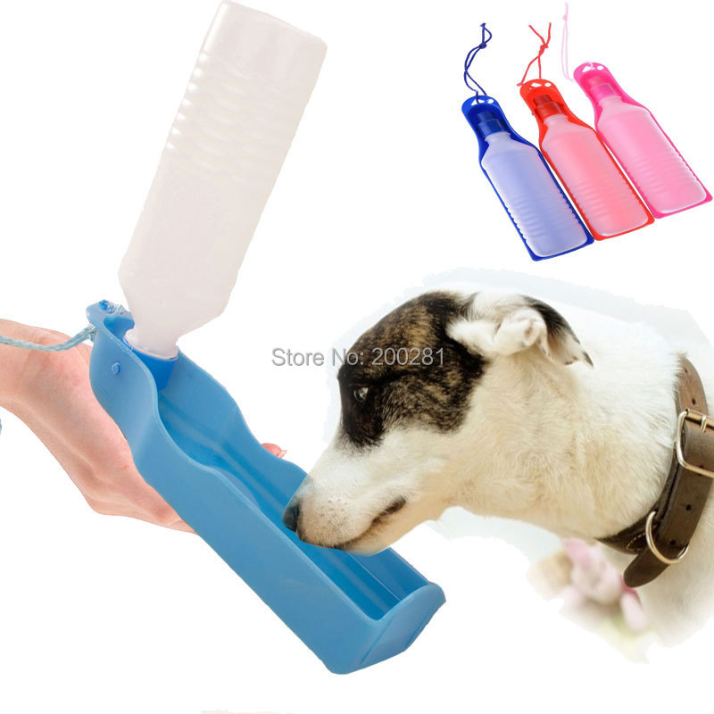 Portable Pet Dog Cat Water Feeding Drink Bottle Dispenser 500ml Pet Water Dispenser Dog Feeding Drinking Water Outdoor Travel