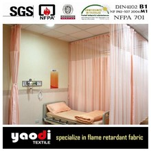 inherent fire resistent and anti-bacterial hospital bed curtain fabric