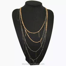 sexy girl long chain 4 layer necklace, multi layer necklace jewellry (SWTJU825)