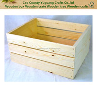 Custom Natural Color Wood Craft Wooden Crates for Fruit/Vegetable/Wine, High Quality Wooden Boxes
