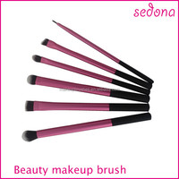 6pcs professional makeup brush set, small cute brush kit, long ferrule brush kit