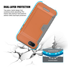 High quality tpu pc smart wallet case cover cell phone credit card holder for iPhone7