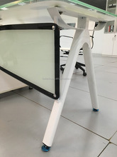 White high quality gloss glass computer desk