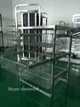 Wire Shelving Hospital Trolley With Sliding Basket