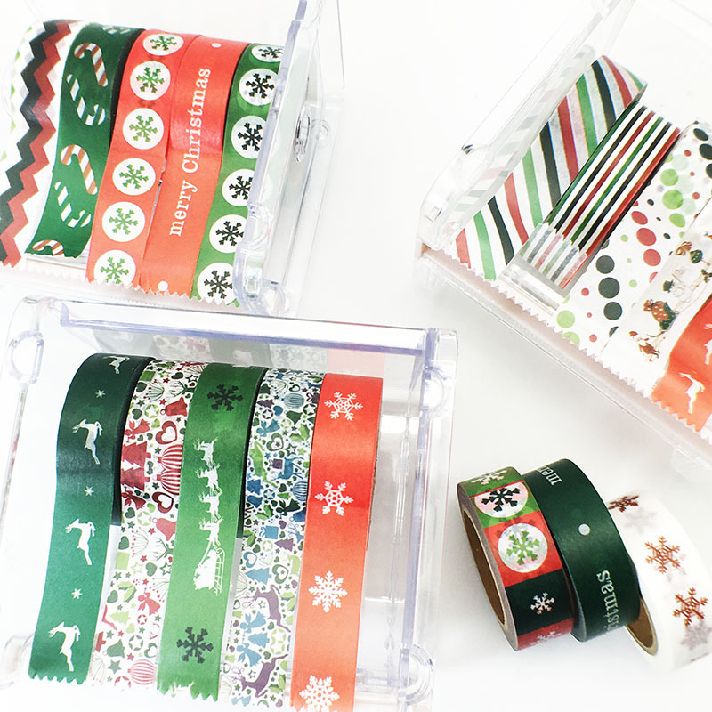 2018 Christmas Craft Ideas PVC Quick Easy Washi Tape For Christmas Cards