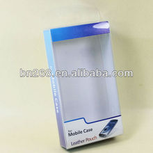 clear plastic cell phone/moible phone case retail packaging box with cardboard