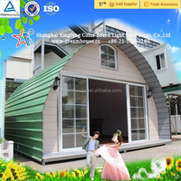 China comfortable prefab house/cheap arched cabin for sale