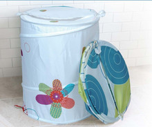 polyester fabric colorful waterproof laundry hamper