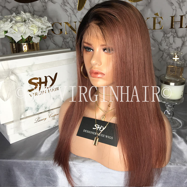 New Collection Overnight Delivery Fish Net Light Brown Human Hair Lace Wigs
