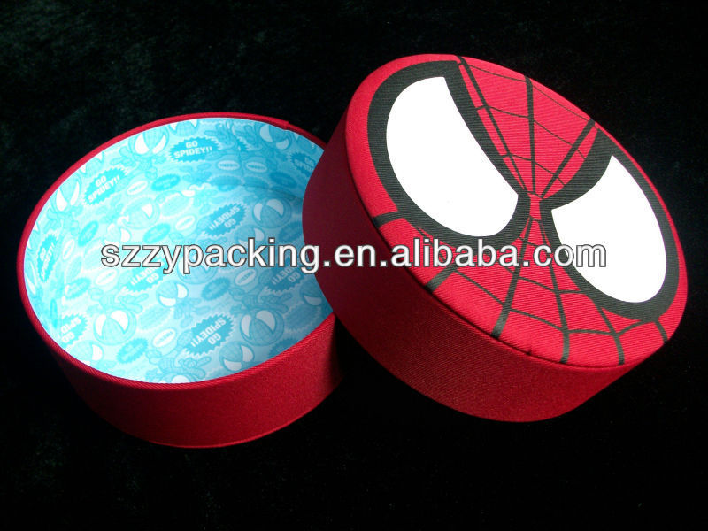 fabric cover round candy gift paper box