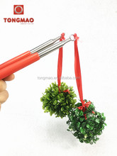 2016 new product christmas game props handheld mistletoe, kissing ball