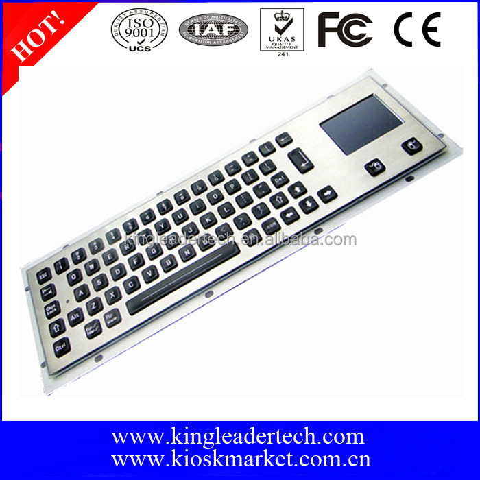 Industrial metal waterproof backlight keyboard