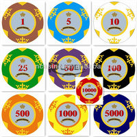 14g Two Tone Crown Casino Clay Casino Poker Chips