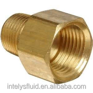 "1/8"" 3/16"",1/4"",3/8"",1/2"" Brass Pipe Fitting, female to male adapter"