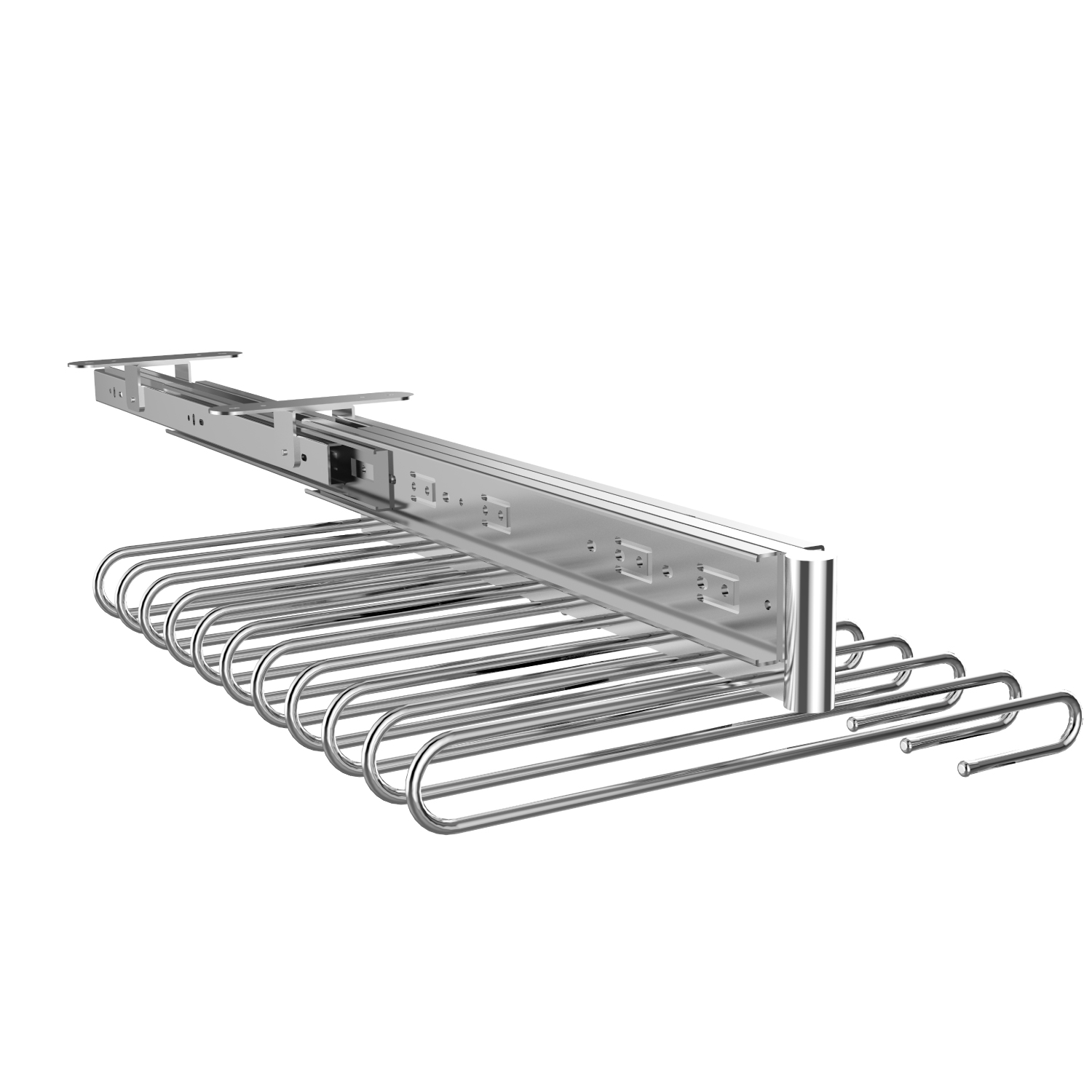 Closet hardware Cabinet top mounted pull out pant rack trousers rack