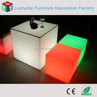 New modern 3d rechargeable LED glow ice cube outdoor used