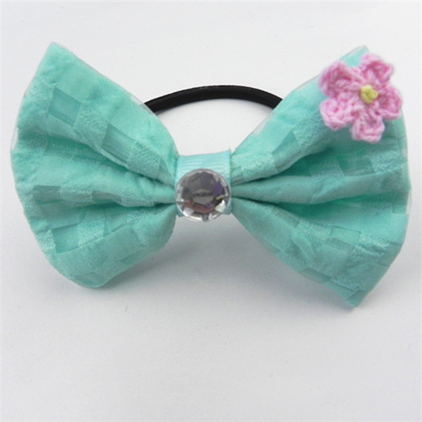 wholesale cotton custom high quality wholesale bead hair ties