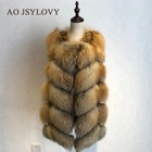 Wholesale High Quality Real Fox Fur Vest Women Fox Fur Gilet