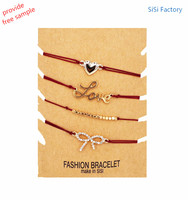 Heart Charm adjustable Fashion Party Crystal Charming Bracelets