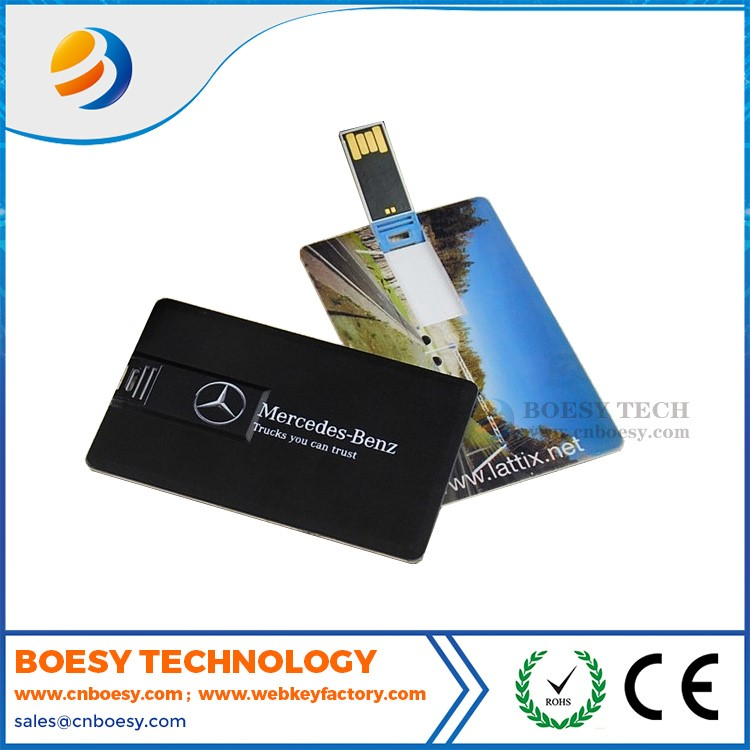 Plastic credit card USB drive/True capacity USB stick/USB products