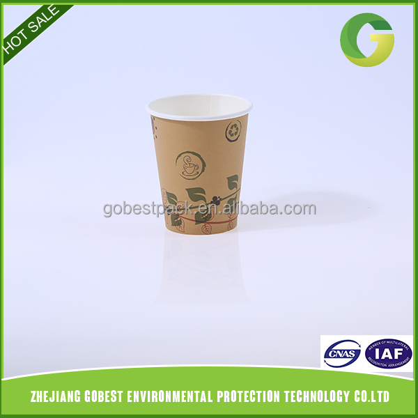 Biodegradable Compostable Custom Printed Disposable PLA Paper Cup