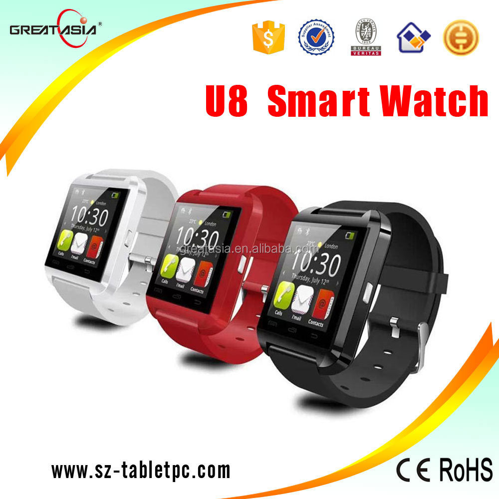 Hot sale2015 promotional Gift U8 Bluetooth Watch For Smart Phone Smartwatch U8