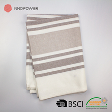 Stock cheap 100% cotton jacquard grey stripe twill kitchen dish towels