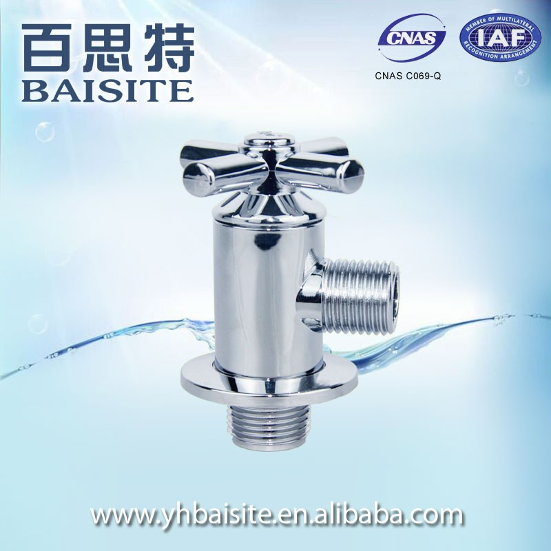 Home Appliances Kitchen Cross Style Handle Angle Valve