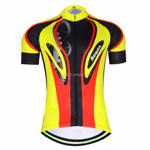 AOGDA New Designs Bike Clothes Man Bicycling Summer Short Sleeve Cycling Jersey Set With Breathable cushion