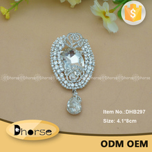 Hot selling multi rhinestone brooch bulk crystal brooch and pin for dress/clothing
