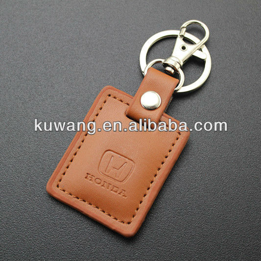 Promotional Embossed Leather Keyring
