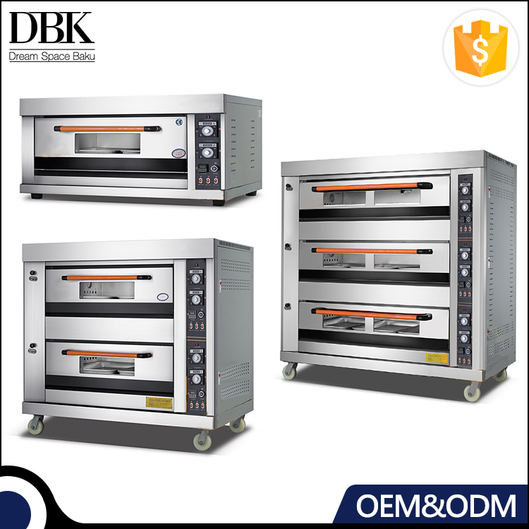 1 2 3 Deck Commercial Pizza Baking stainless steel gas oven for bread making