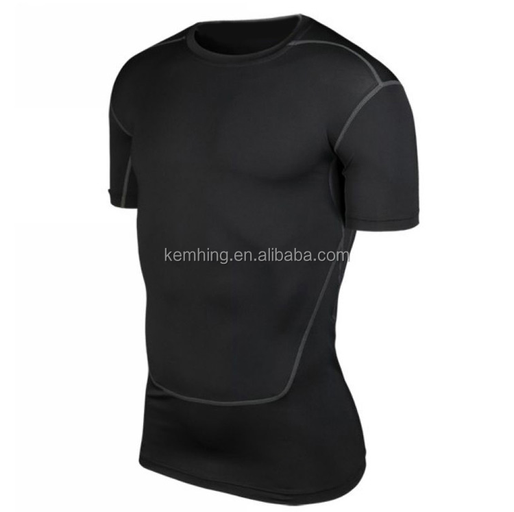 wholesale gym wear mens running fitness jogging shirt compression tights pants sport training gym wear men