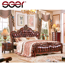 Wholesale latest designs luxury genuine leather bed