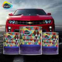 KINGFIX hot selling 1k crystal colors solvent base car paint
