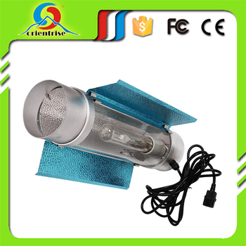 Hydroponic grow light reflector air cool tube for grow tent