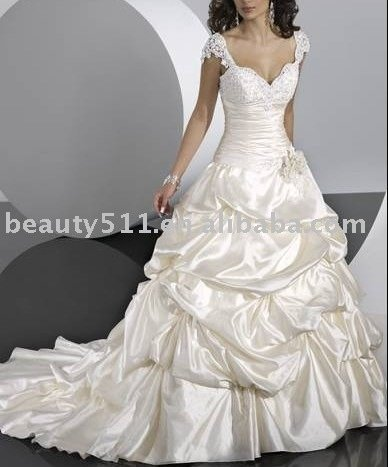 new fashion 2011 astergarden ruffle wedding dress SO552