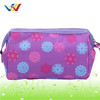 Customlized printing design cosmetic bag with many pockets inside