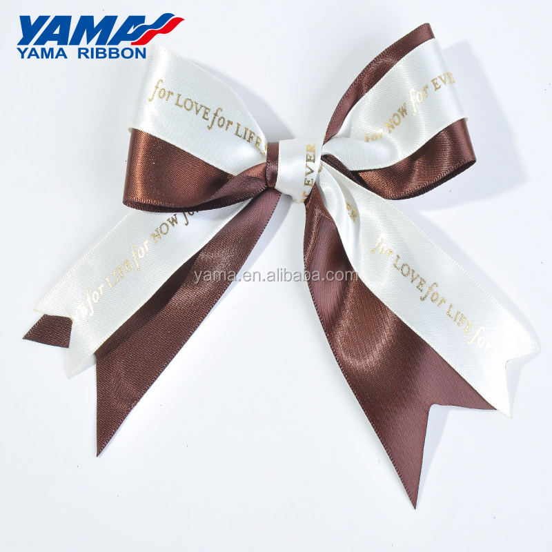 YAMA factory pre-tied pre-made exquisite custom gift packing satin ribbon bows