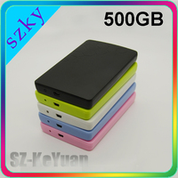 OEM Colorful Plastic USB2.0 External Portable Hard Drive 500GB