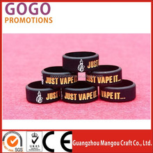 Logo Printing e cigs silicone Vape bands Colorful Silicone vepor Ring E-cigarette Various Patterns Decorative Mod Ring