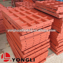 Steel concrete panel formwork rounded