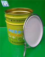 18L oil/paint/coating/gasoline bucket with handle and lid