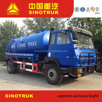Low price waste water suction truck , vacuum pump Sewage tanker Septic water Tank Trucks For Sale
