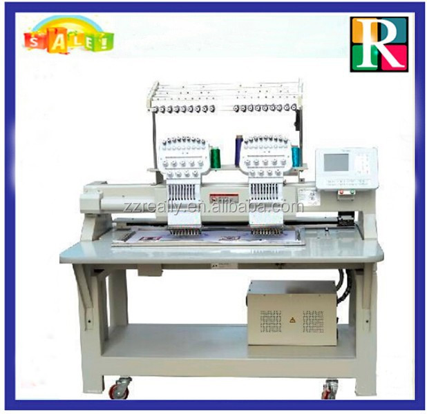 Multihead embroidery machine cording device